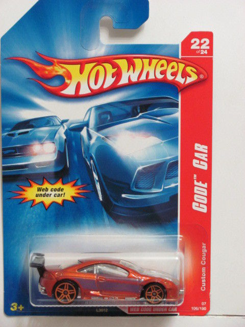 HOT WHEELS 2007 CODE CAR CUSTOM COUGAR #22/24