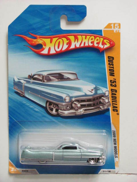 HOT WHEELS 2009 NEW MODELS CUSTOM '53 CADILLAC LIGHTBLUE