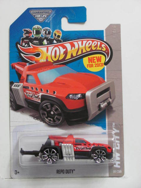 HOT WHEELS 2013 HW CITY - HW CITY WORKS REPO DUTY RED