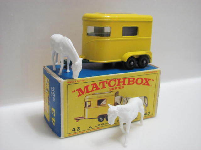 MATCHBOX 1967 LESNEY #43 PONY TRAILER W/BOX