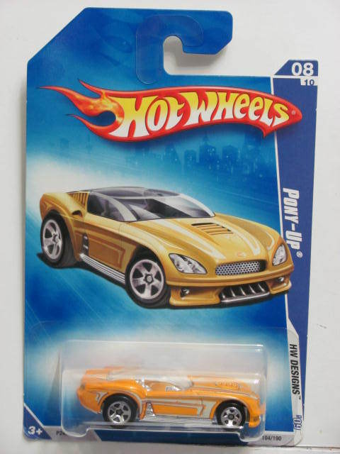 HOT WHEELS 2009 HW DESIGNS #08/10 PONY-UP YELLOW