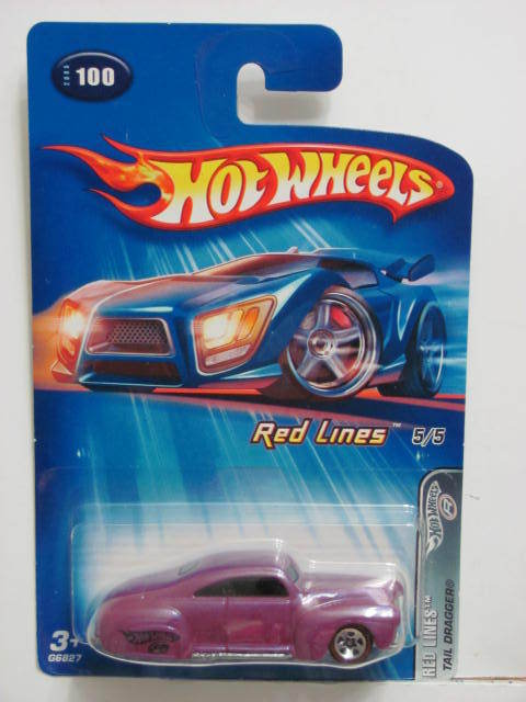 HOT WHEELS 2005 RED LINES TAIL DRAGGER #100