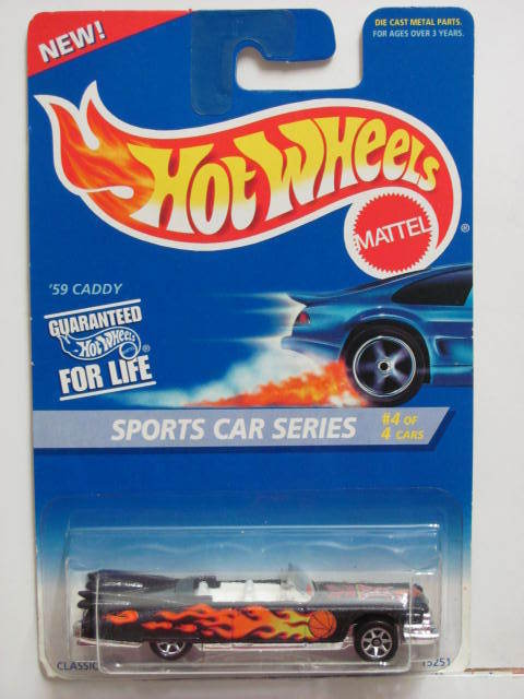 HOT WHEELS 1995 SPORTS CAR SERIES '59 CADDY BLACK