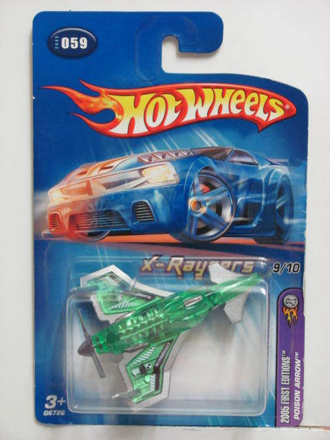 HOT WHEELS 2005 FIRST EDITIONS X-RAYCERS #059 POISON ARROW GREEN