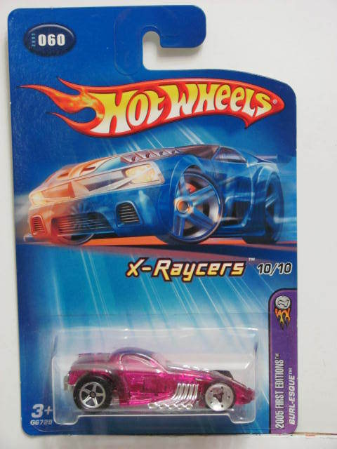 HOT WHEELS 2005 FIRST EDITIONS X-RAYCERS BURL-ESQUE PINK
