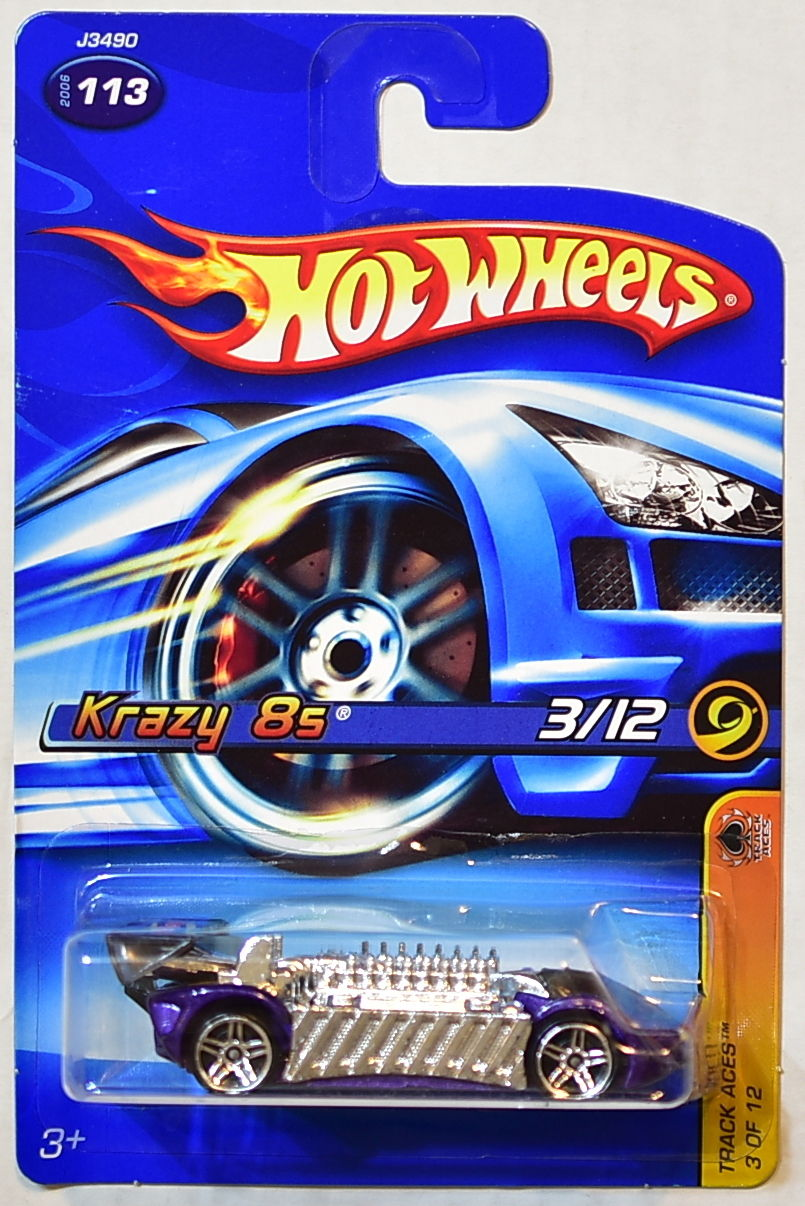 HOT WHEELS 2006 TRACK ACES KRAZY 8S #113 MIB