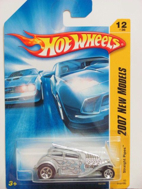 HOT WHEELS 2007 NEW MODELS STRAIGHT PIPES #12/36 SILVER