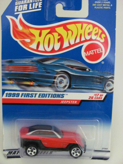 HOT WHEELS 1999 FIRST EDITIONS JEEPSTER RED W/ 5 SPK