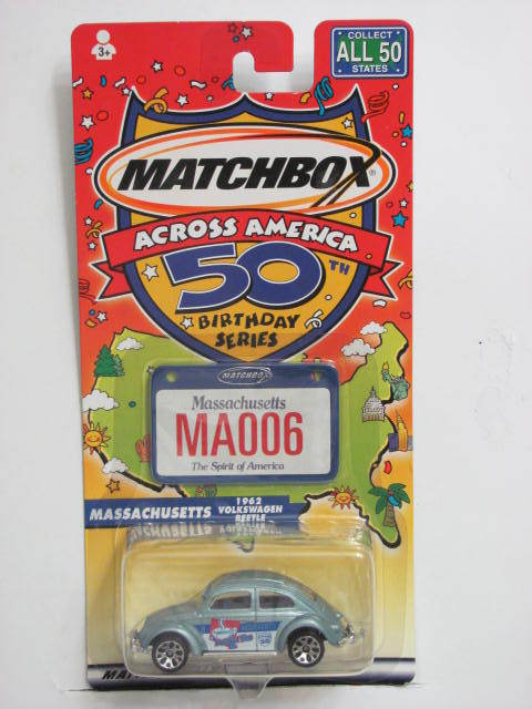 MATCHBOX ACROSS AMERICA 50TH BIRTHDAY MA006 MASSACHUSETTS VW BEETLE
