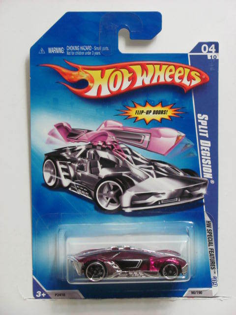 HOT WHEELS 2009 HW SPECIAL FEATURES SPLIT DECISION E+