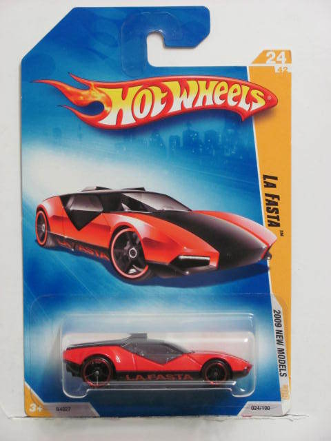 HOT WHEELS 2009 NEW MODELS LA FASTA #24/42 RED