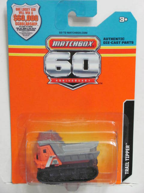 2013 MATCHBOX 60TH ANNIVERSARY CARD TRAIL TIPPER