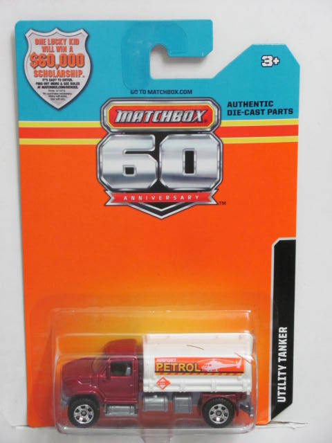 2013 MATCHBOX 60TH ANNIVERSARY CARD UTILITY TANKER