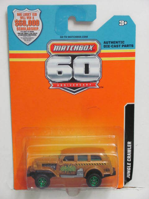 2013 MATCHBOX 60TH ANNIVERSARY CARD JUNGLE CRAWLER