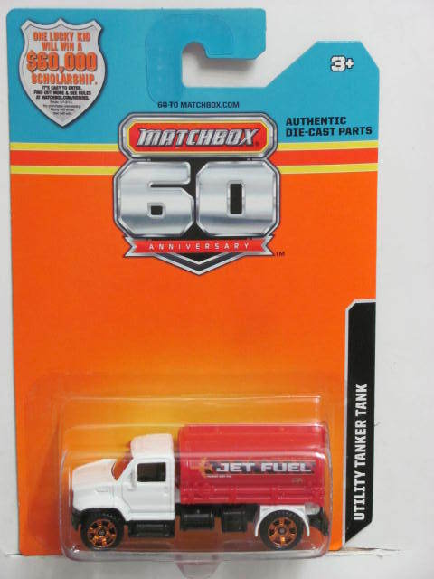 2013 MATCHBOX 60TH ANNIVERSARY CARD UTILITY TANKER TANK