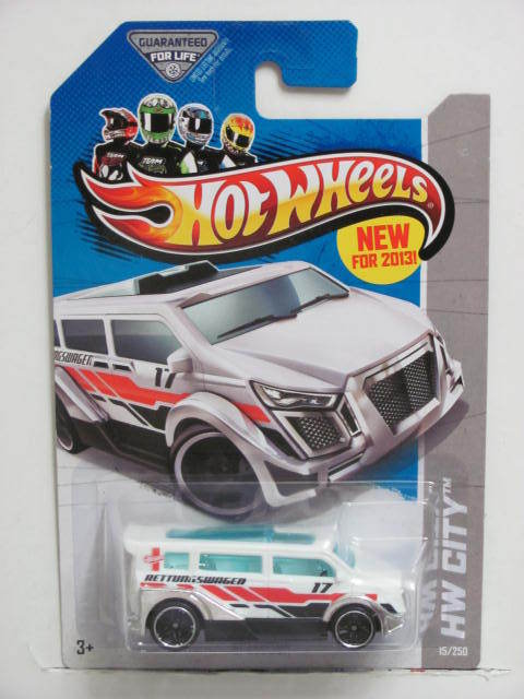 HOT WHEELS 2013 HW CITY SPEEDBOX HW RESCUE