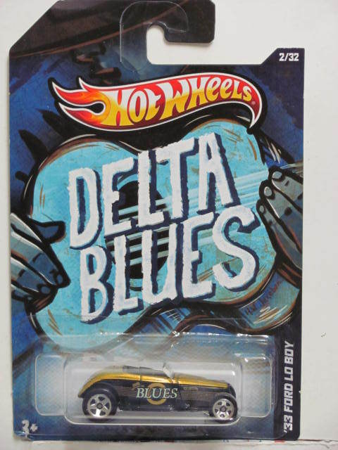 HOT WHEELS 2012 JUKE BOX DELTA BLUES '33 FORD LO BOY E+