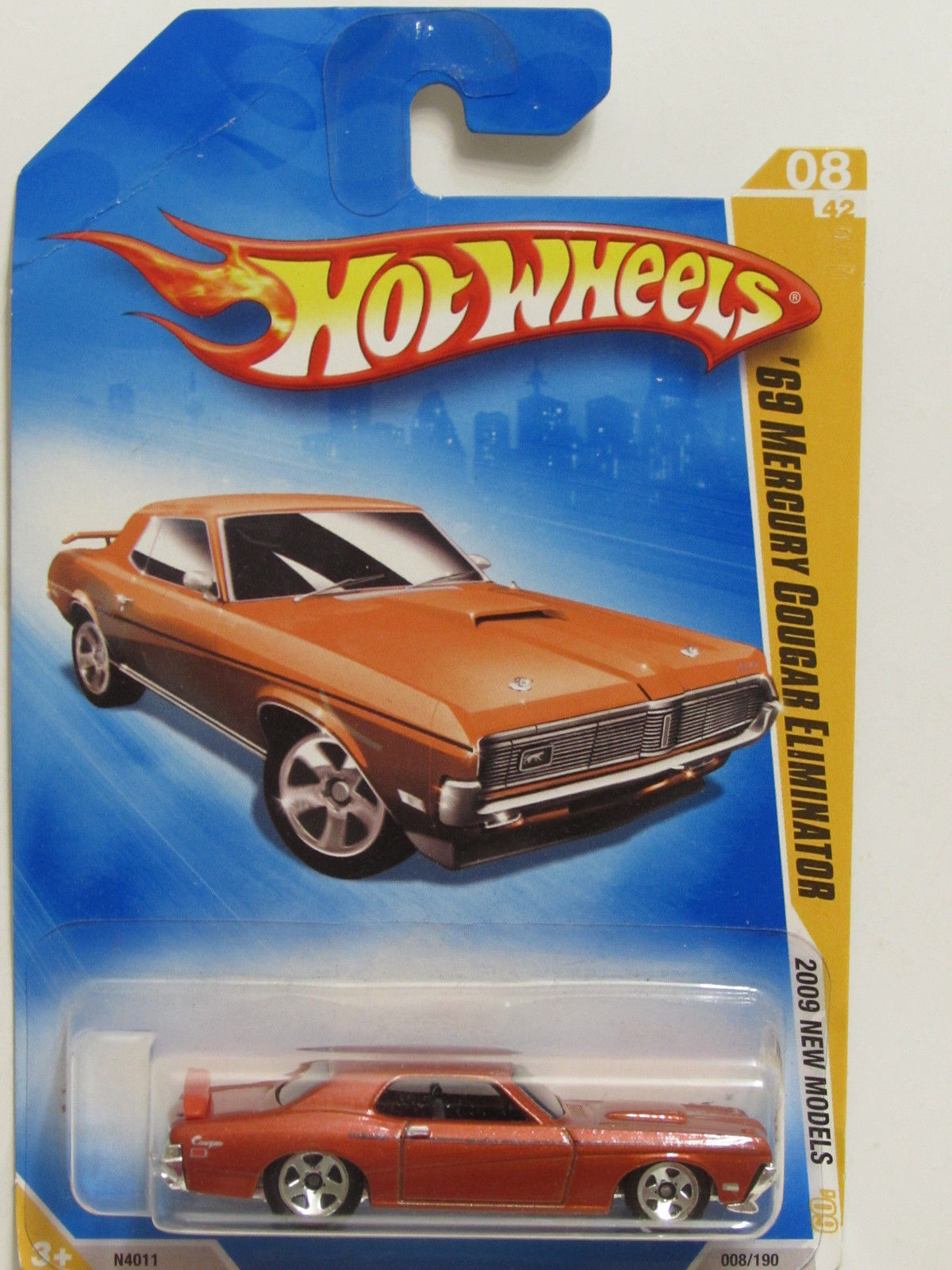 HOT WHEELS 2009 NEW MODELS '69 COUGAR ELIMINATOR #08/42 ORANGE