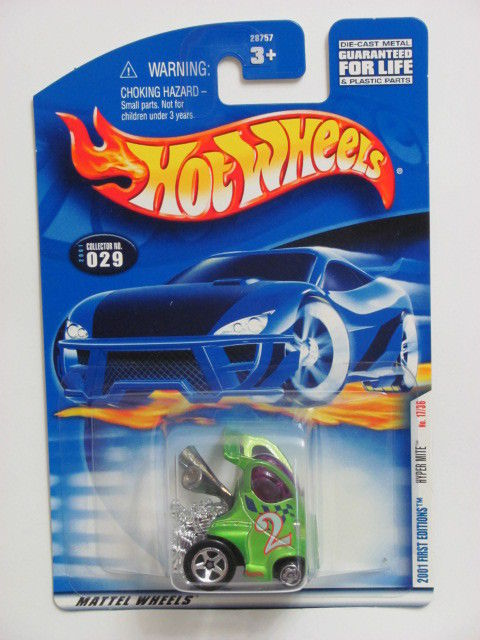HOT WHEELS 2001 FIRST EDITIONS HYPER MITE #029 BLUE TAMPO