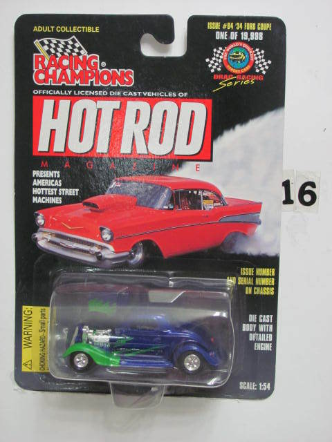 RACING CHAMPIONS HOT ROD ISSUE #84 '34 FORD COUPE SC 1:54