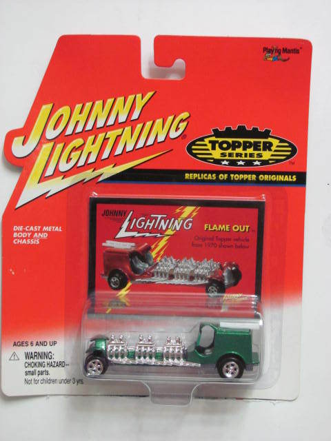 JOHNNY LIGHTNING THE LOST TOPPERS SERIES FLAME OUT GREEN