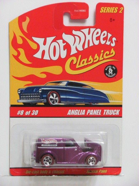 HOT WHEELS CLASSICS SERIES 2 #8/30 ANGLIA PANEL TRUCK PURPLE