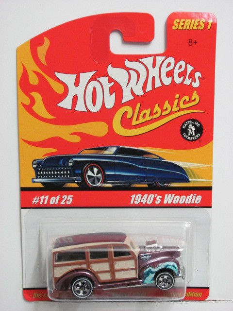 HOT WHEELS CLASSICS SERIES 1 #11/25 1940's WOODIE