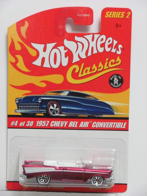HOT WHEELS CLASSICS SERIES 2 #04/30 1957 CHEVY BEL AIR CONVERTIBLE