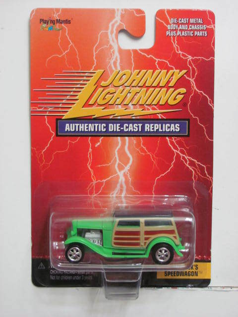 JOHNNY LIGHTNING AUTHENTIC DIE CAST REPLICAS DAN FINK'S SPEEDWAGON GREEN