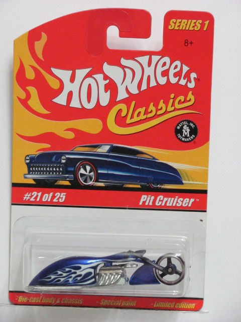 HOT WHEELS CLASSICS SERIES 1 #21/25 PIT CRUISER BLUE