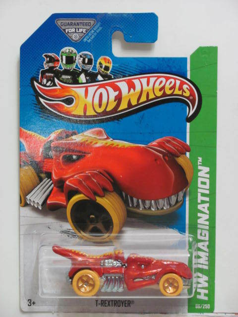 HOT WHEELS 2013 HW IMAGINATION - DINO RIDES T-REXTROYER RED