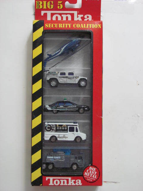 TONKA SECURITY COALITION 5 CAR PACK COMMANDO CHEVROLET SEAROH RAM