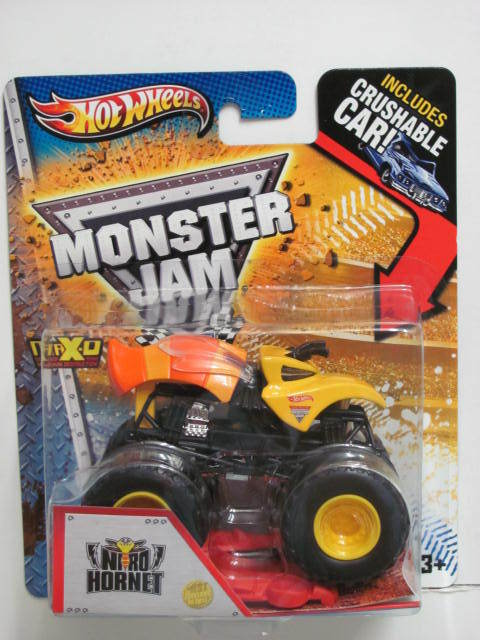MONSTER JAM INCLUDES CRUSHABLE CAR NITRO HORNET FIRST EDITIONS
