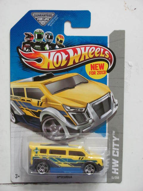 HOT WHEELS 2013 HW CITY - HW RESCUE SPEEDBOX YELLOW