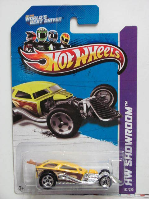 HOT WHEELS 2013 SHOWROOM - AMERICAN TURBO SURF CRATE YELLOW