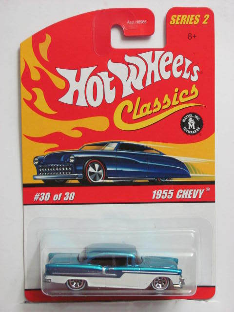 HOT WHEELS CLASSICS SERIES 2 - 1955 CHEVY #30/30 BLUE