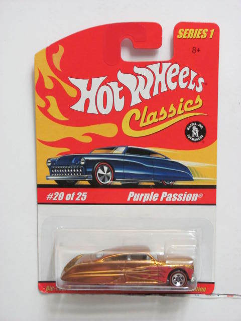 HOT WHEELS CLASSICS SERIES 1 #20/25 PURPLE PASSION BRONZE