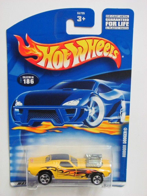 HOT WHEELS 2001 RODGER DODGER #186 YELLOW