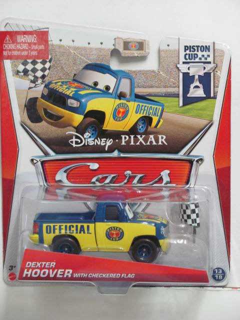 DISNEY PIXAR CARS - 2013 PISTON CUP DEXSTER HOOVER W/ CHECKERED FLAG