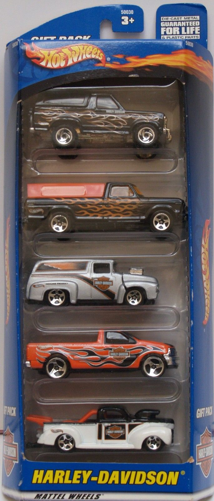 HOT WHEELS HARLEY-DAVIDSON FORD CHEVY 5 CAR PACK E+