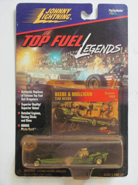 JOHNNY LIGHTNING TOP FUEL LEGENDS BEEBE & MULLIGAN TIM BEEBE SEASON 1968 E+