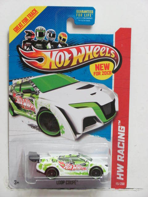 HOT WHEELS 2013 HW RACING - THRILL RACERS LOOP COUPE E+