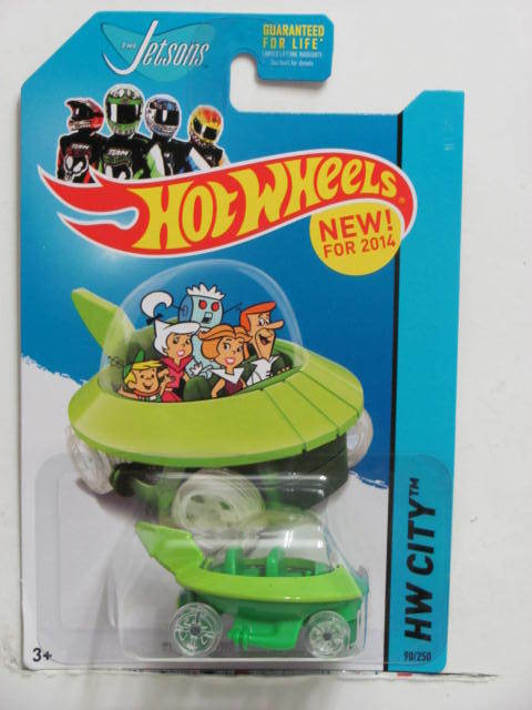 HOT WHEELS 2014 HW CITY - TOONED II THE JETSONS CAPSULE CAR GREEN