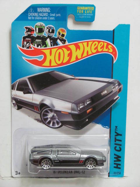 HOT WHEELS 2014 HW CITY - SPEED TEAM '81 DELOREAN DMC-12