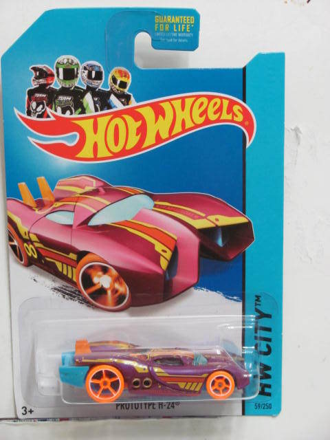 HOT WHEELS 2014 HW CITY - FUTURE FLEET PROTOTYPE H-24 PURPLE
