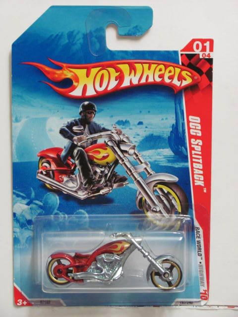 HOT WHEELS 2010 #1/4 OCC SPLITBACK RED
