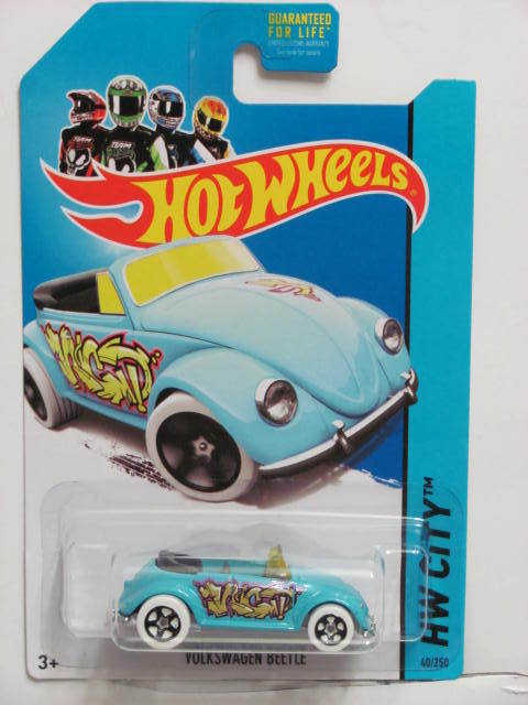 HOT WHEELS 2013 HW CITY - GRAFFITI RIDES VOLKSWAGEN BEETLE BLUE