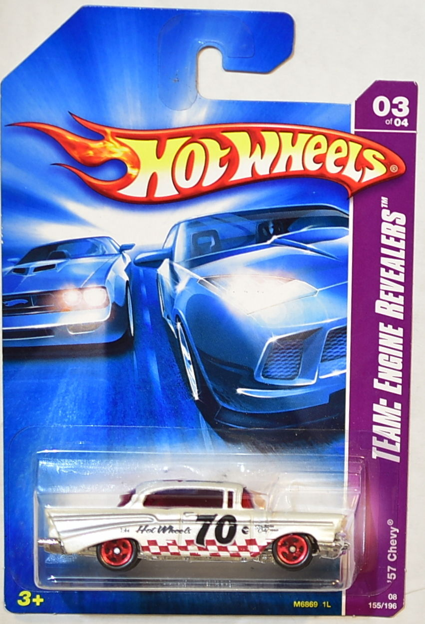 HOT WHEELS 2008 TEAM ENGINE REVEALERS '57 CHEVY E+