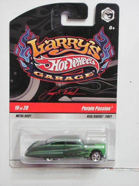 HOT WHEELS 2010 LARRY'S GARAGE PURPLE PASSION #10/20