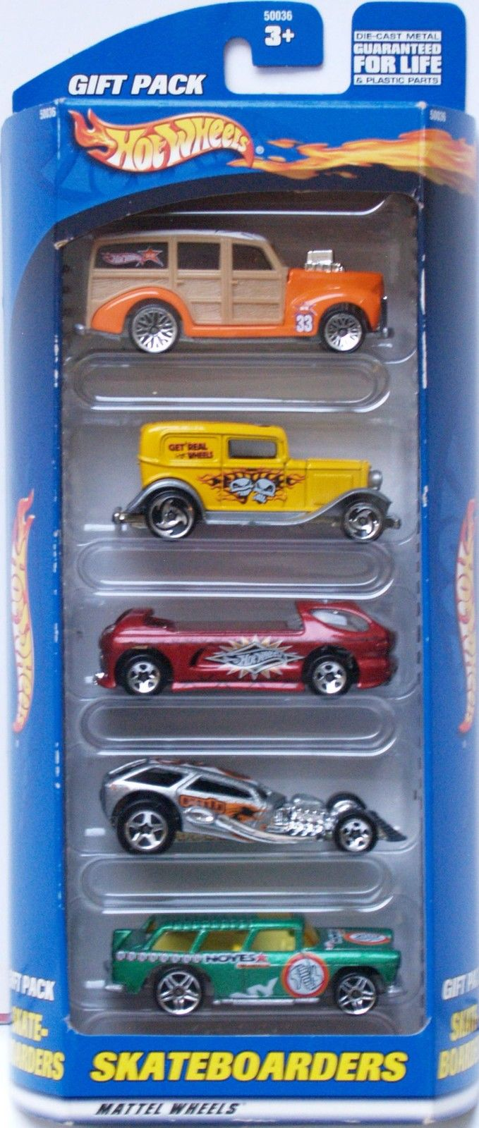 HOT WHEELS 2000 GIFT PACK SKATEBOARDERS CHEVY NOMAD 5 CAR PACK